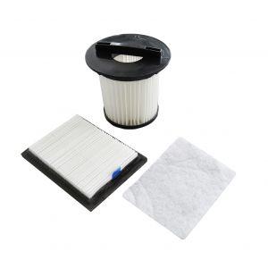 Filterset 2725001 (Lamellen-Zentralfilter, Motorschutzfilter, Ausblasfilter) für den Dirt Devil Centrino X3.1, Popster