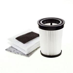 Filterset 2828001 (Lamellen-Zentralfilter, Motorschutzfilter, Ausblasfilter, Filterhülsenset: 2 x Schutzvlies/Power-Socke) für den Dirt Devil Centric / Centec