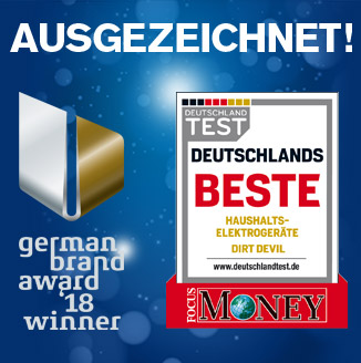 Dirt Devil® Gewinner des German Brand Award 2018 und Focus Money - Deutschlands Beste
