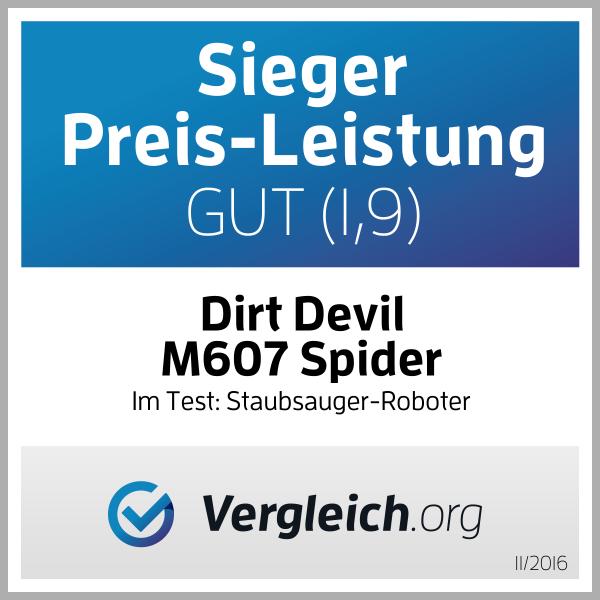 Dirt Devil Testsieger Preis-leistung Saugroboter Spider M607